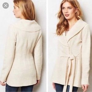 Anthropologie Rosie Neira Boiled Wool Wrap Sweater